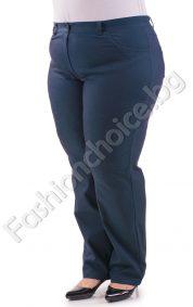 Модерен макси панталон на точки в цвят петрол