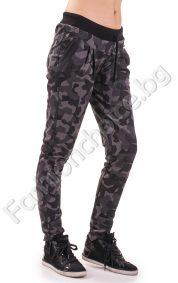 Камуфлажно дамско долнище с промазка и джобчета