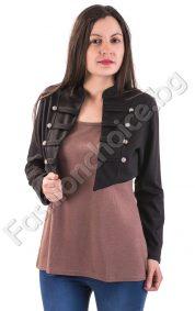 Пролетна дамска блуза с ефектно черно сако