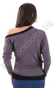 Дамска блуза с щампа на жена в два десена