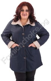 Двулицев макси шлифер с джобчета за пролетта