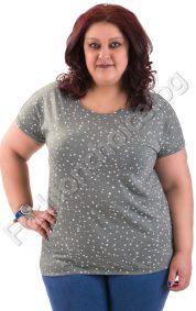 Прекрасна макси блуза с къс ръкав в три интересни десена