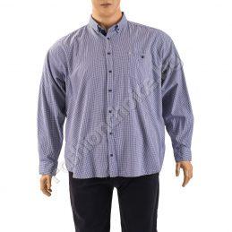 Официална мъжка макси риза на ситно каре
