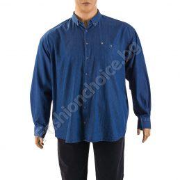 Дънкова мъжка макси риза в тъмно син деним