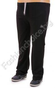Българско мъжко макси спортно долнище в черен цвят