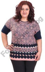 Дамска макси блуза с мотиви тип Версаче в три цвята