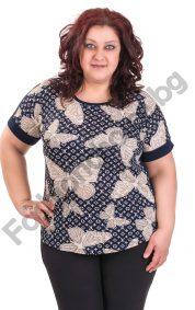 Практична макси блуза с пеперуди и издължена задна част