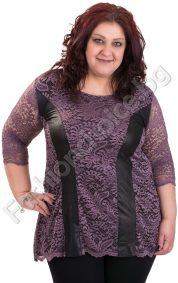 Кокетна дантелена макси блуза в три актуални нюанса