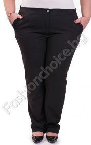 Тънък дамски макси панталон в черен и тъмносин цвят