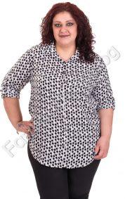 Кокетна макси риза в два нежни цвята на квадратчета