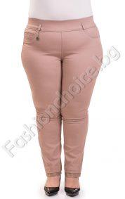 Летен макси панталон-тип клин в цвят бежово и горчица