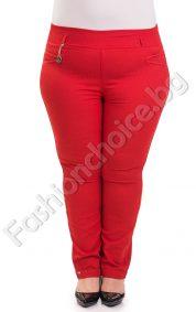 Модерен летен макси панталон-тип клин на точки в три десена