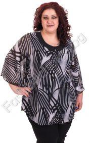 Прелестна макси блуза-тип пончо от нежен шифонПрелестна макси блуза-тип пончо от нежен шифон