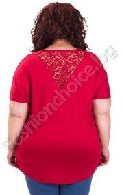 Лека и комфортна макси блуза с дантела в задната част