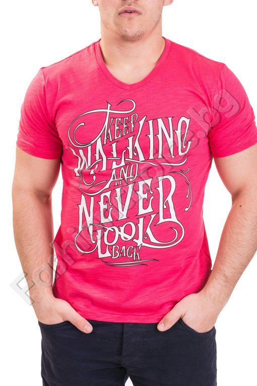 Лятна мъжка тениска с къс ръкав в седем пъстри цвята