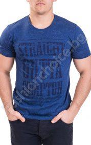 Мъжка тениска с къс ръкав и щампа в три цвята