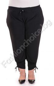 Летен дамски панталон с вързанки и набор/макси размер/