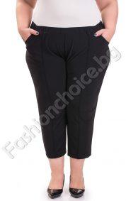 Летен 7/8 панталон с джобчета и кант за макси дами
