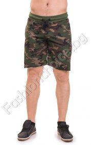 Актуални мъжки панталони в камуфлажен десен с джобчета
