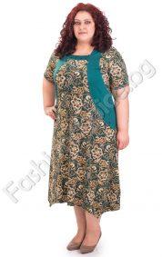Стилна дамска рокля, асиметричен модел в големи размери