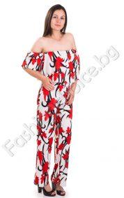 Ефектен дамски комплект от бюстие и дълъг панталон