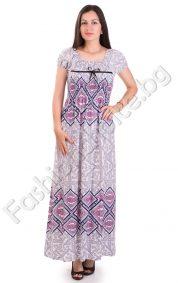 Лятна дълга дамска рокля в три интересни десена