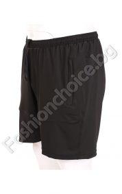Черни мъжки къси панталони с джобчета /№60, №62, №64, №66/