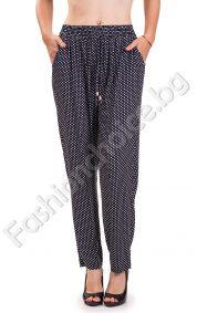 Дамски летен панталон лек потур на точки