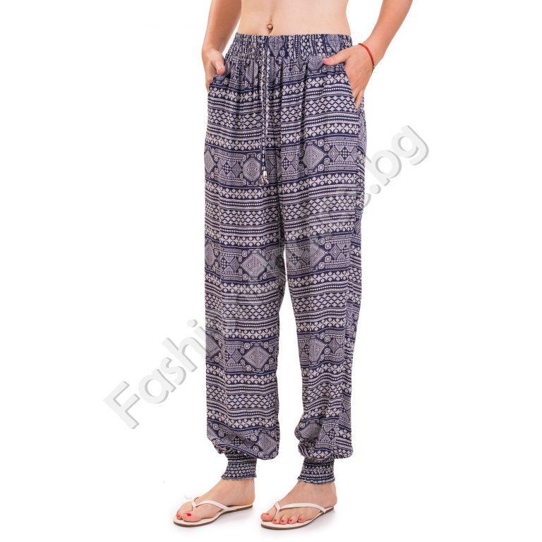 Дамски панталон лек потур с набор на глезените за лятото