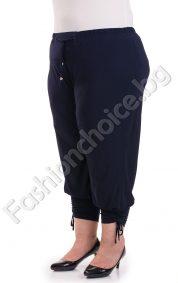 Летен дамски панталон с вързанки в два десена /големи размери/