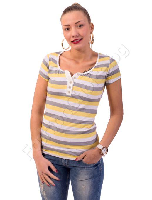 Блуза на райета с цветни копчета Код 325-2
