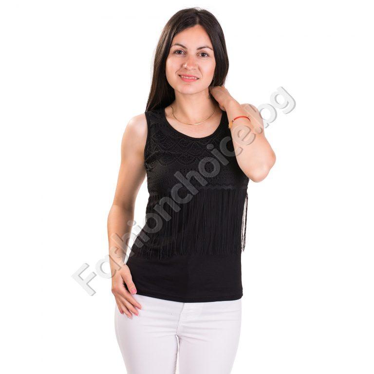 Нежен дамски потник с ресни в три цвята