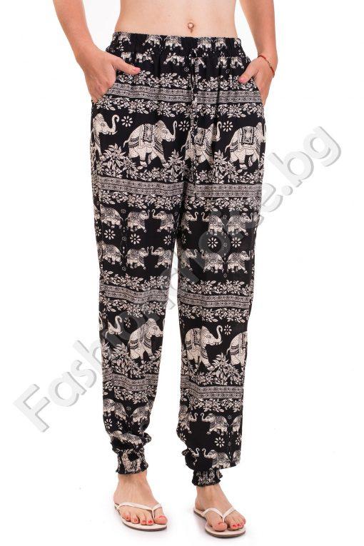 Летен дамски панталон с набор на глезените