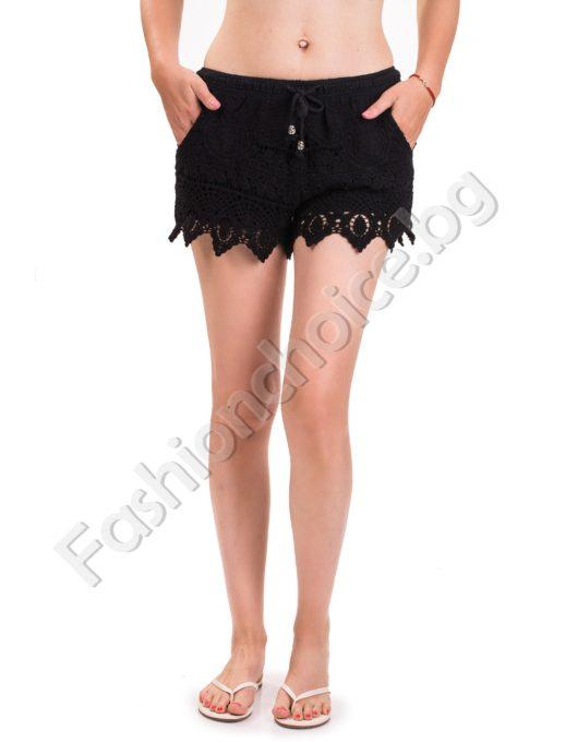 Къси дамски панталонки на едра с бордюр дантелени - три цвята
