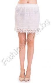 Ефектна дамска дантелена пола за лятото