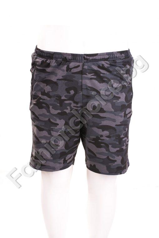 Мъжки къси панталони в камуфлажен десен /макси размери/