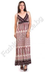 Чудесна лятна дълга рокля в три десена /Универсална/