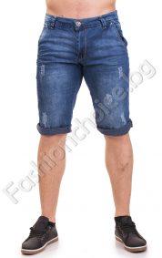 Къси дънкови панталони с маншет и джобчета