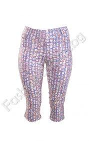 Летен дамски 3/4 панталон на цветчета в три цвята