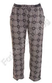Ефектен дамски летен панталон /уголемен модел/