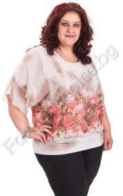 Ефектна макси блуза от шифон в два нежни нюанса