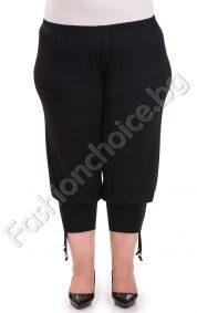 Комфортен черен панталон 7/8 дължина /3XL и 4XL /