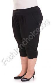Голям размер 7/8 панталон с джобчета от лека материя