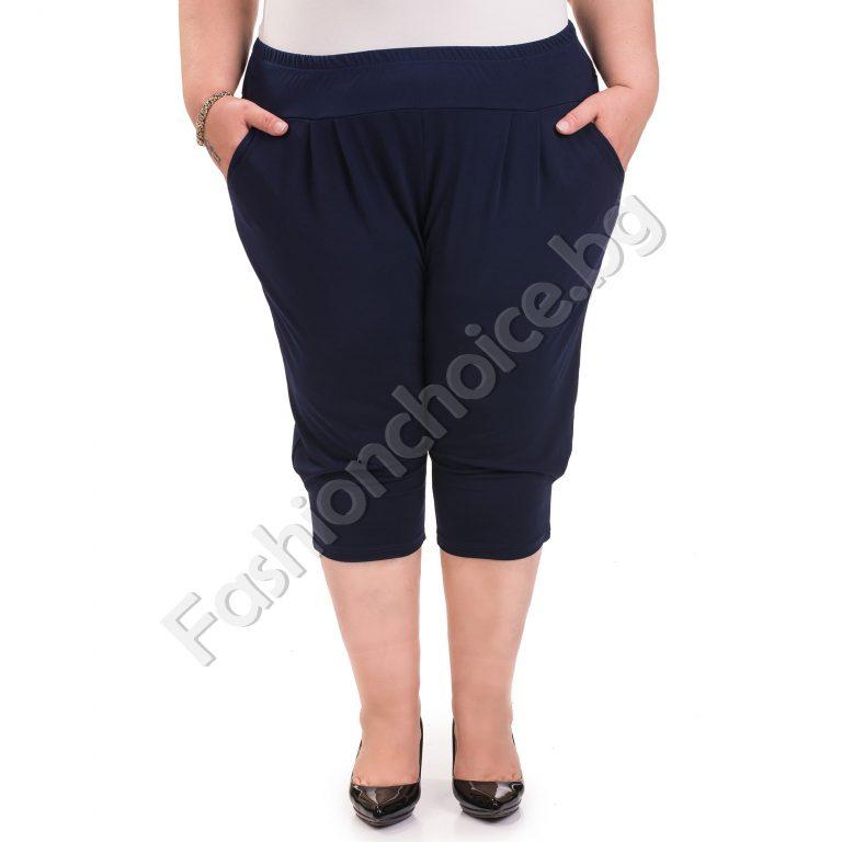 Дамски макси летен 3/4 панталон /3XL, 4XL, 5XL,6XL/