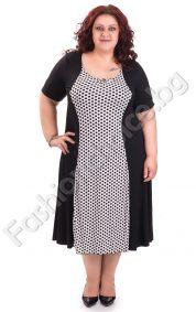 Кокетна дамска рокля на точки в четири големи размера