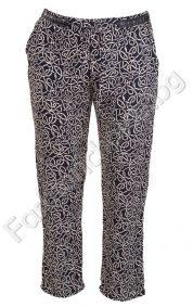 Летен фигурален дамски панталон с украсителна кожа