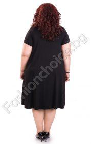 Кокетна макси рокля украсена с камъни/големи размери/