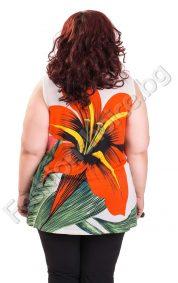 Уникален макси топ с красиво голямо цвете