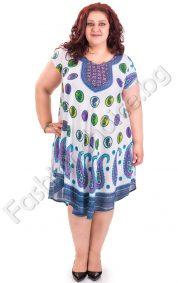 Ефирна цветна лятна рокля в големи размери
