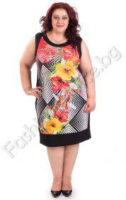Ефектна макси рокля със свеж флорален принт в три десена